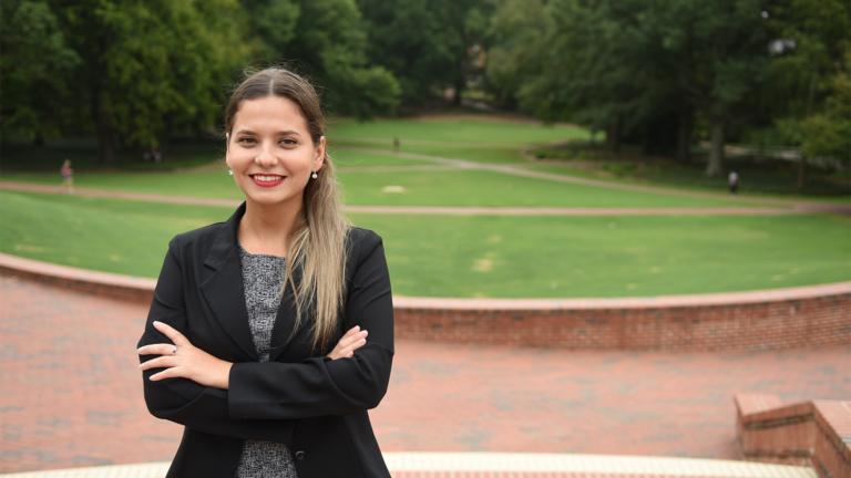 grad student Fatima Barrios